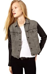 Rag & Bone J Black/Gray Womens Jean Jacket