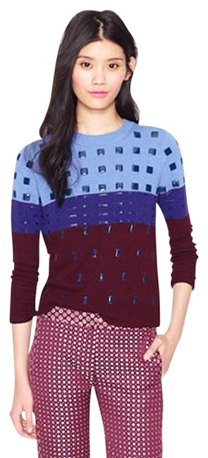 Preload https://item1.tradesy.com/images/jcrew-burgundy-blue-collection-beaded-colorblock-sweaterpullover-size-16-xl-plus-0x-721200-0-0.jpg?width=400&height=650