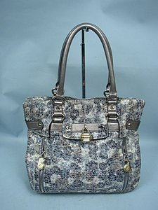 B. Makowsky B. Floral Leather Satchel in Multi-Color