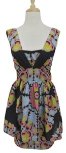 Anthropologie short dress multi-color Floral Print on Tradesy