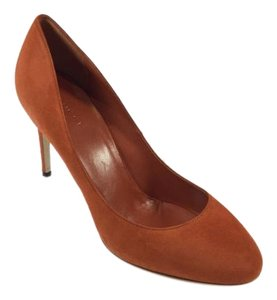 Gucci Rust Suede Pumps