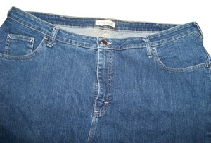 Riders by Lee Pants Denim Womans Plus Size 24w Relaxed Fit Jeans-Medium Wash