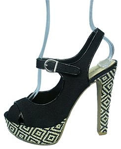 Diva Lounge Black & White Platforms