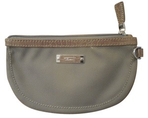 Tumi Tumi Beige Canvas & Leather Coin Purse