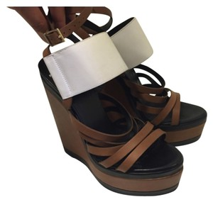 Pierre Hardy Brown/white Wedges