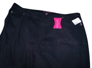 Catherines Secret Slimmer Liz & Me New New With Tags Straight Leg Jeans-Dark Rinse