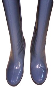 Rockport Water-repellant Wedge GREY BLUE WATERPROOF PATENT LEATHER Boots