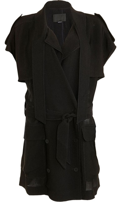 Preload https://item5.tradesy.com/images/alexander-wang-black-short-sleeve-trench-coat-size-6-s-721389-0-0.jpg?width=400&height=650