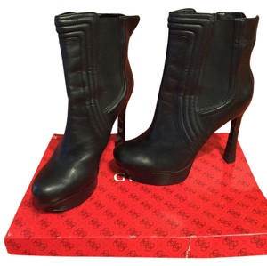 Guess Platform Boot Leather Bootie Black Boots