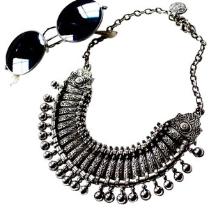 Other New Bohemian Silver Fringe Necklace