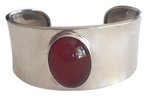 Other Sterling Silver Mexican Oval Cabochon Carnelian Cuff Bracelet