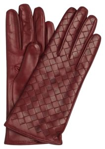All Gloves All Gloves ~ Bordeax ~ Italian Leather Woven Gloves W/Cashmere Lining ~ 6.5 ~ NWT