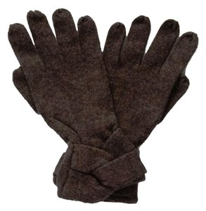 Carolina Amato Carolina Amato ~ Criss Cross Wool Gloves ~ Dark Charcoal Gray ~ NWT