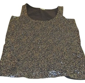 J.Crew Top Dark Grey/Silver Sequins