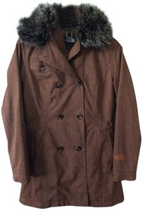 The North Face Water-repellant Faux Fur Pea Coat