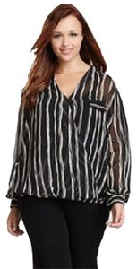 Pleione Wrap Top BLACK-IVORY