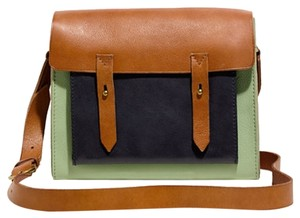 Madewell Leather Inter Zip Pocket Cross Body Bag