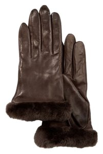 UGG Australia Ugg ~ Leather Shearling Gloves w/100% Cashmere Lining ~ Size L ~ Brown ~ NWT
