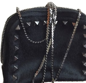 Valentino Classic Vintage Calf Hair Calf Hair Studded Studded Shoulder Bag