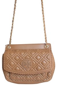 e28e8b754b7c Tory Burch Marion Small Style 32149744 Color  Tigers Eye 202 Quited Leather Shoulder  Bag