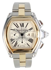 Cartier Roadster Two-Tone 18kt Yellow Gold and Steel XL Mens Watch