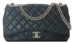 Chanel Navy Leather Flap Ch.h1110.06 Shoulder Bag