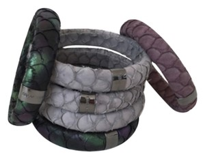 Marc Jacobs Marc Jacobs snake python leather bangle bracelets