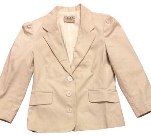 Juicy Couture Cream/Beige Stripe Blazer