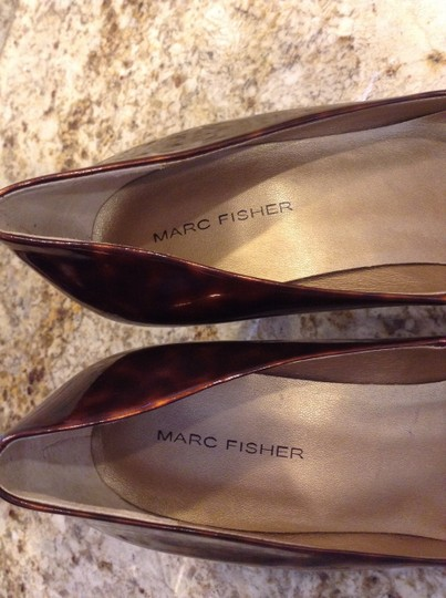 Marc Fisher Patent Leather Tortoise Pumps