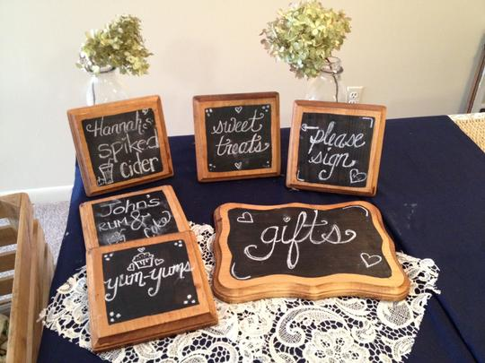 Boho Wood Wedding Signs Rustic Wooden Stained