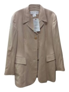 Escada Cashmere Gold Buttons Camel Jacket