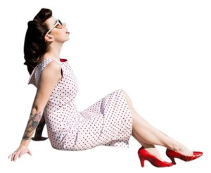 Bettie Page Pin Up Rockabilly Vintage Dress