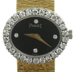 Piaget Piaget Lady's Yellow Gold Diamond Onyx Quartz Wristwatch