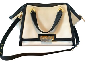 Zac Posen Leather Modern Satchel in White and Black