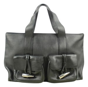Burberry Tote in Black Leather