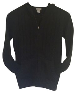 Ann Taylor Zip-up Cardigan Hooded Cable Sweater