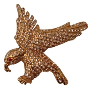 Chanel RARE '01P CHANEL SWAROVSKI CRYSTAL EAGLE PIN