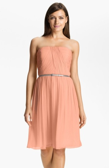 Preload https://img-static.tradesy.com/item/722123/donna-morgan-peach-fuzz-silk-chiffon-traditional-bridesmaidmob-dress-size-2-xs-0-0-540-540.jpg