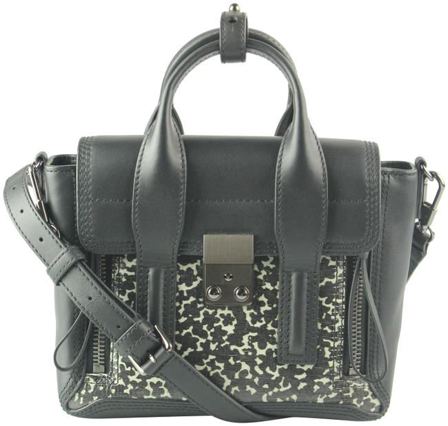 Item - Mini Pashli Lasercut Design Cream and Black Leather Satchel