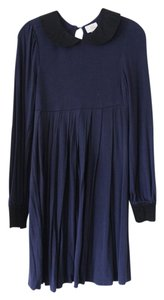Erin Fetherston short dress Navy Blue Pleated on Tradesy