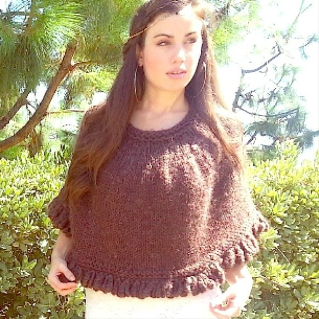 Other Knit Braid Top Scarf Hippie Boho Hipster Festival Cape