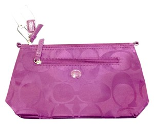 Coach GETAWAY SIGNATURE NYLON COSMETIC POUCH (Style #F77391)