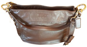 Coach Leather Silver Hardware Soft Hobo Bag