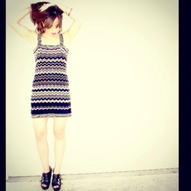 Missoni short dress Black and White Boho Hippie Festival Chevron Summer Bodycon on Tradesy
