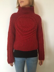 Barneys New York Hand Knit Turtleneck Sweater