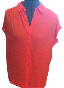 Ann Taylor LOFT Top Orange