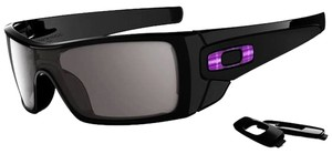 Oakley Oakley Men OO9101-08 Batwolf Polished Black with Warm Grey Sunglasses