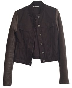 T by Alexander Wang Brown / taupe Leather Jacket