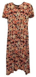 Prada Silk Floral Pink Flower Dress