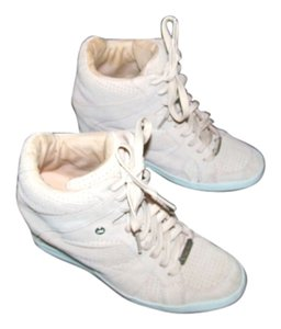 Coach Wedge Sneakers Gym Leather Pink Athletic